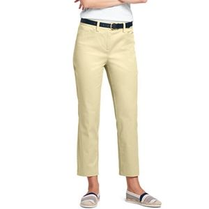 Lands End Womens Yellow Pants Mid Rise Size 6 cott